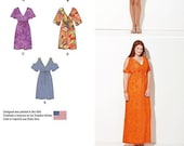 Sewing Pattern for Womens 39 Dresses in sizes XXS to XXL, Simplicity Pattern 1375, Maxi, Cold Shoulder, Deep V Neck, Easy Sew New Pattern