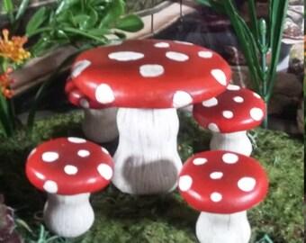 Red mushroom chair | Etsy