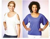 Sewing Pattern for Misses 39 Scoop-Neck Tops, Kwik Sew K3880, Cold-Shoulder Option, Kwik Easy Pattern, Womens Tops, Dolman Sleeves, K3880
