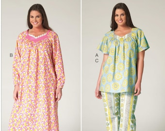Sewing Pattern for Women s Plus Size Pajama Top d1b100a34
