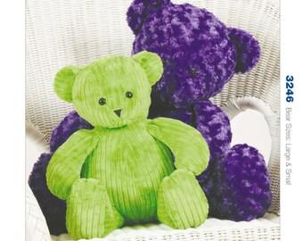 Sewing Pattern for Oversized Teddy Bears in Two Sizes, Kwik Sew Pattern 3246, Stuffed Bears, Stuffed Toys, Custom Teddy Bears