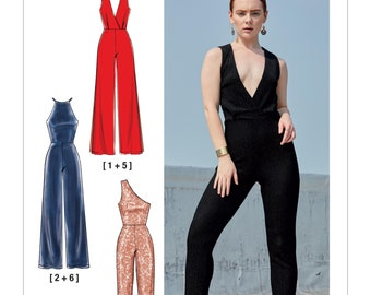 ea082369af53 Sewing Pattern for Womens Jumpsuits in Misses Size