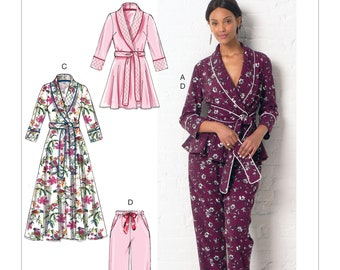 f4267634fe Sewing Pattern for Womens Pajamas   Robes in Three Lengths