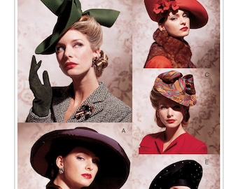 b360d690eaa56 Sewing Pattern for Womens Vintage Style HATS -FIVE STYLES