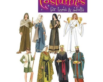 Sewing Pattern For Adult Size Christmas Play   Nativity Costumes,  Simplicity Pattern 4795, Mary, Joseph, Wise Kings, Shepherds, Angel
