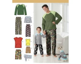 c4a365f170 Sewing Pattern for Boys    Men s Lounge Wear plus matching Dog Shirt