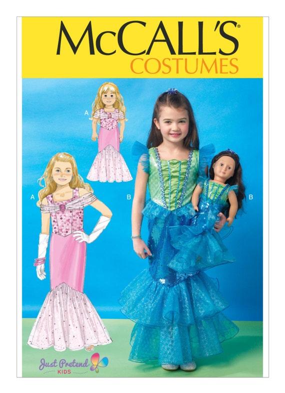 Sewing Pattern For Children'sGirls'60 Etsy Cool Mermaid Costume Pattern