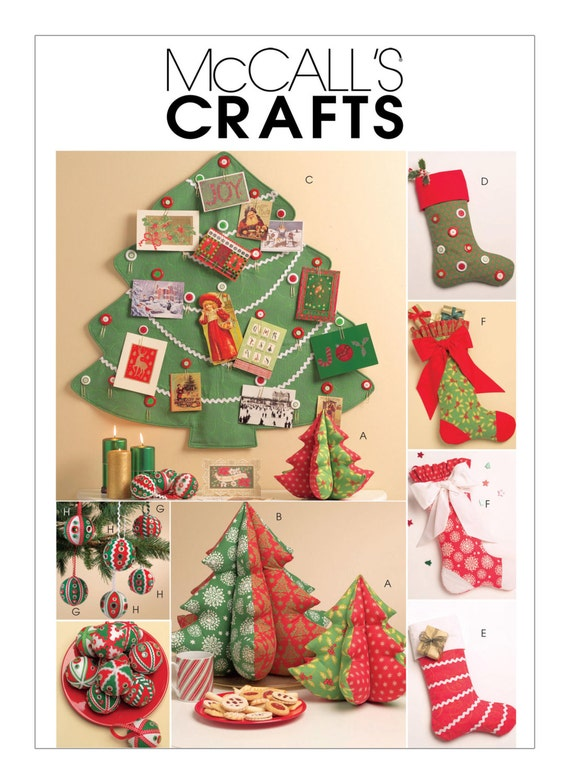 Sewing Pattern For Christmas Crafts Mccall S Pattern M5778 Christmas Decorations Ornaments Stockings Stuffed Christmas Trees