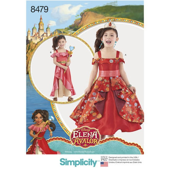 Sewing Pattern for Disney Elena of Avalor Child\'s Costume | Etsy