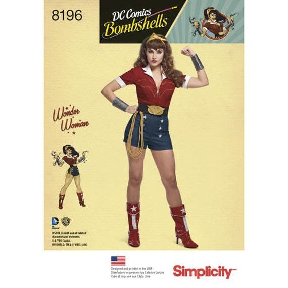Sewing Pattern for D.C. Comics Bombshells Wonder Woman Costume ...