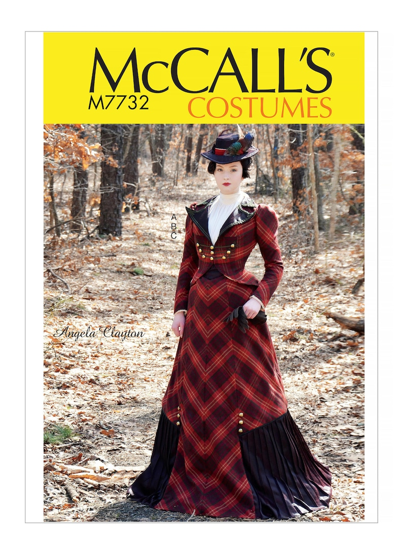 Steampunk Sewing Patterns- Dresses, Coats, Plus Sizes, Men's Patterns 1890s McCalls clayton 7732 $5.95 AT vintagedancer.com