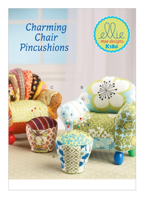 Wondrous Sewing Pattern For Chair Ottoman Pin Cushion Kwik Sew Pattern 0180 Ellie Mae Design Sewing Room Essential Gift Idea Pin Cushions K180 Machost Co Dining Chair Design Ideas Machostcouk