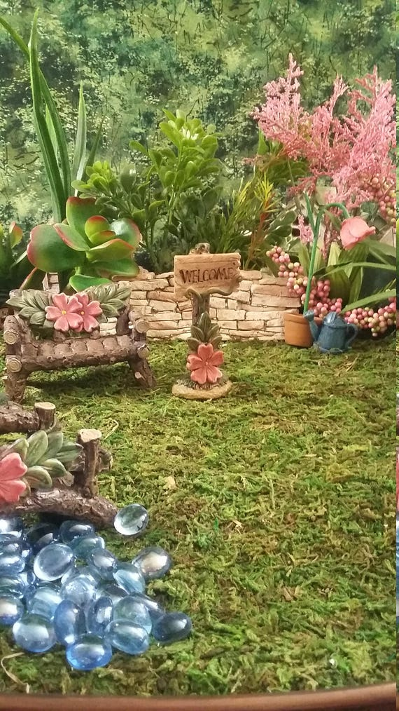 Fairy Garden Miniature WELCOME Sign Resin For Your Fairy
