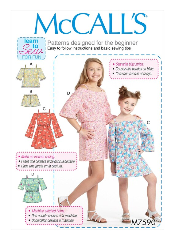 Sewing Pattern Children\'s/Girls Off-the-Shoulder Top   Etsy