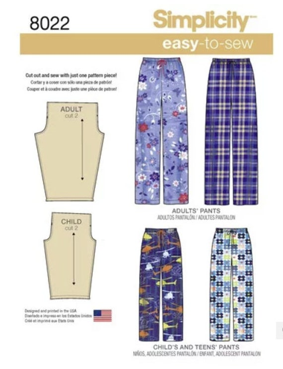 Sewing Pattern for Matching Sleep Pants for the  141f97d69