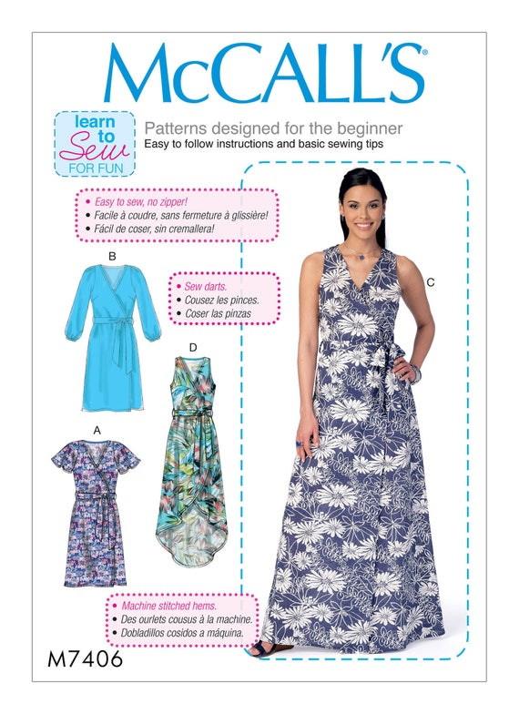 Sewing Pattern Misses\' Wrap Dresses McCall\'s Pattern   Etsy