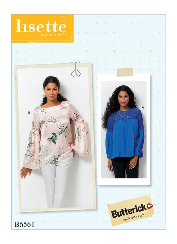 Sewing Pattern For Misses Tops Butterick Pattern B6561 Etsy