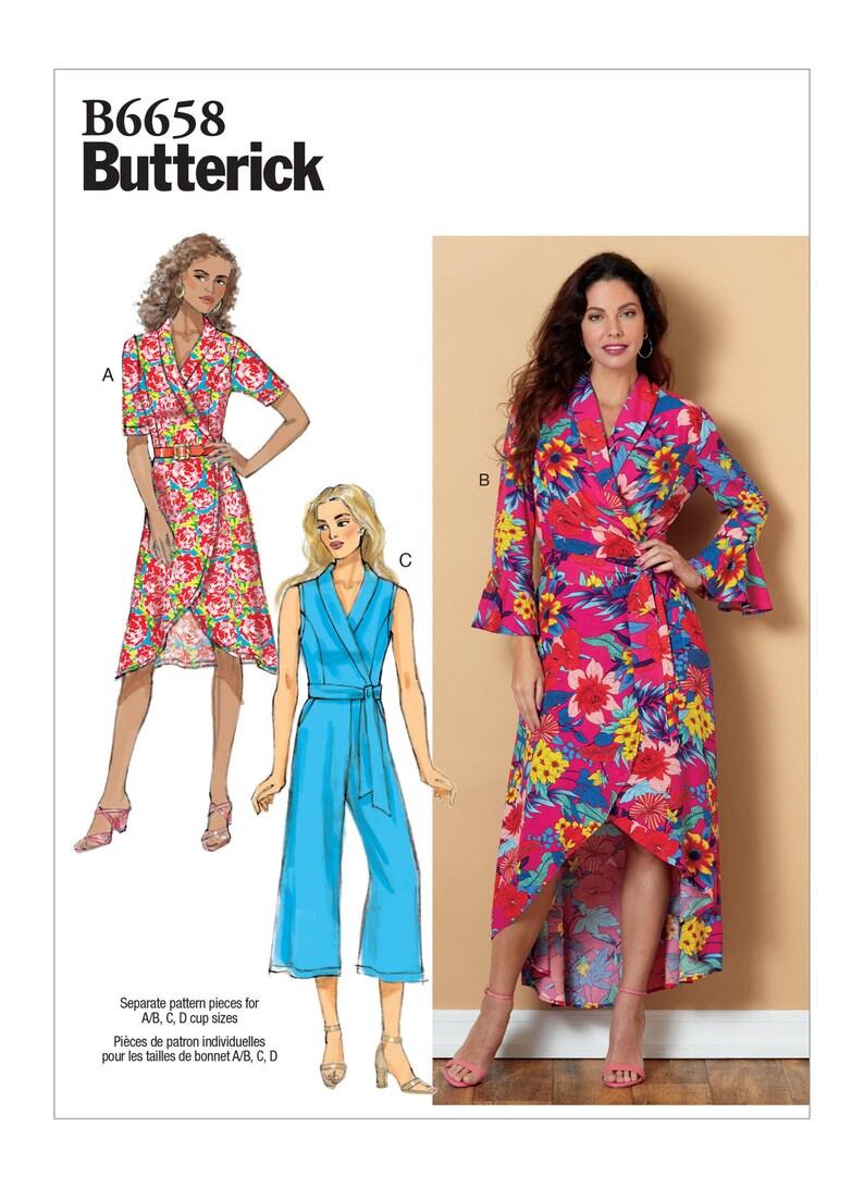 19c54ea230 Sewing Pattern Womens Wrap Dress & Surplice Front Jumpsuit in | Etsy