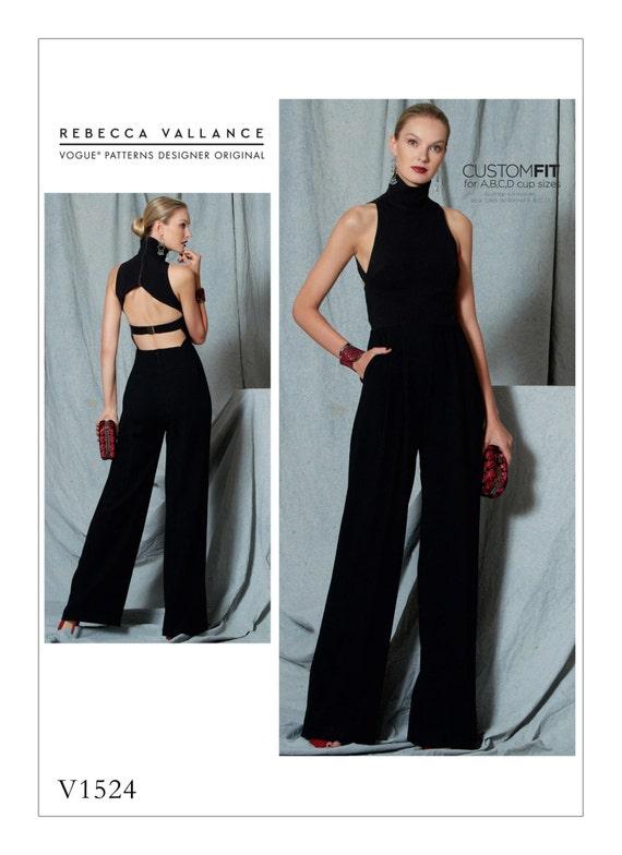 Sewing Pattern for Misses\' Open-Back Banded JUMPSUIT, Vogue Pattern ...