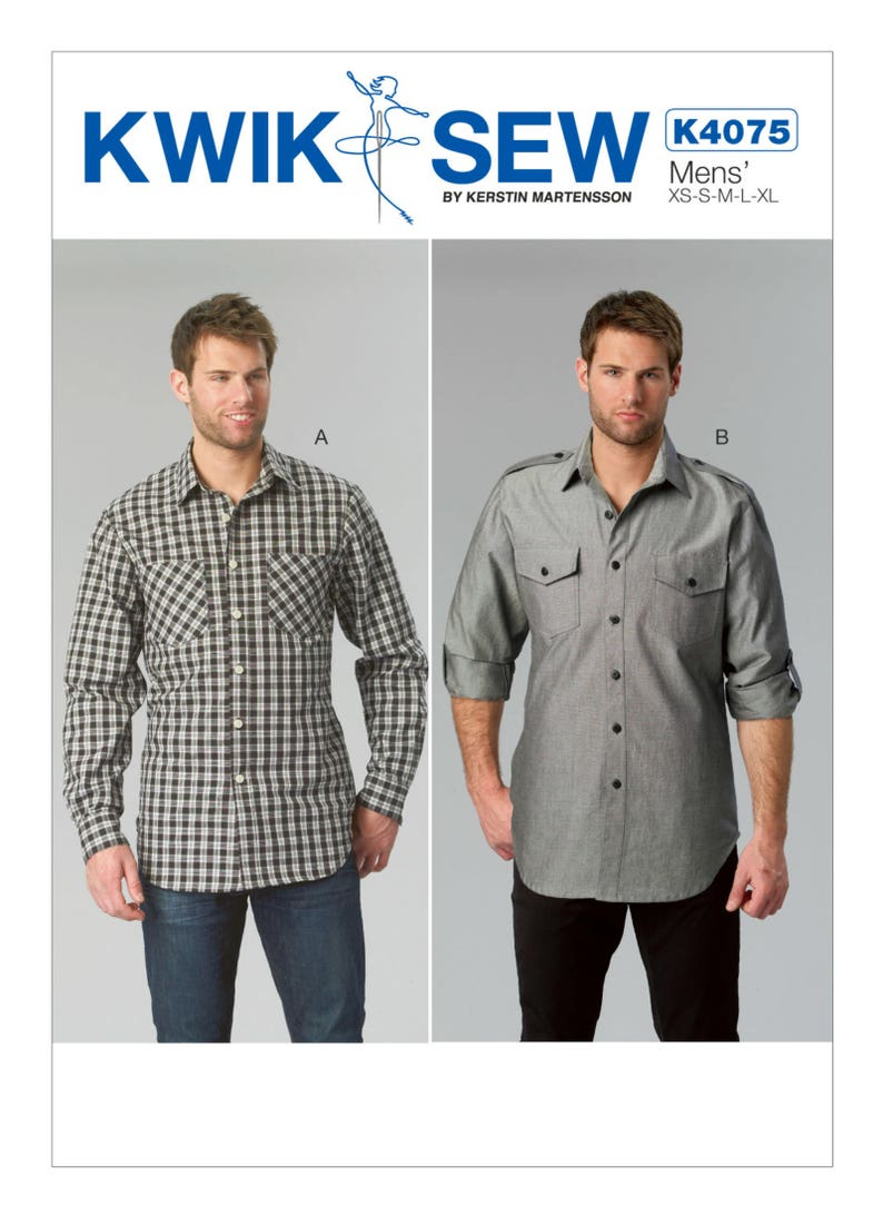 5b3efbbe342 Sewing Pattern for Men s Men s Button-Down Shirts