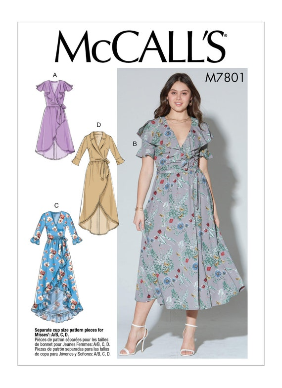 Sewing Pattern for Misses\' Dresses McCalls Pattern 7801 | Etsy
