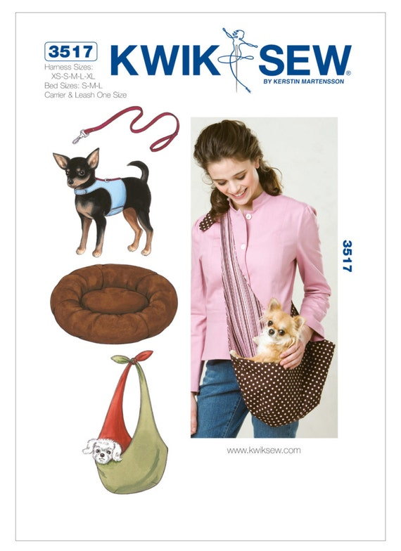 Sewing Pattern For Dog Harness Leash Bed And Carrier Kwik Etsy