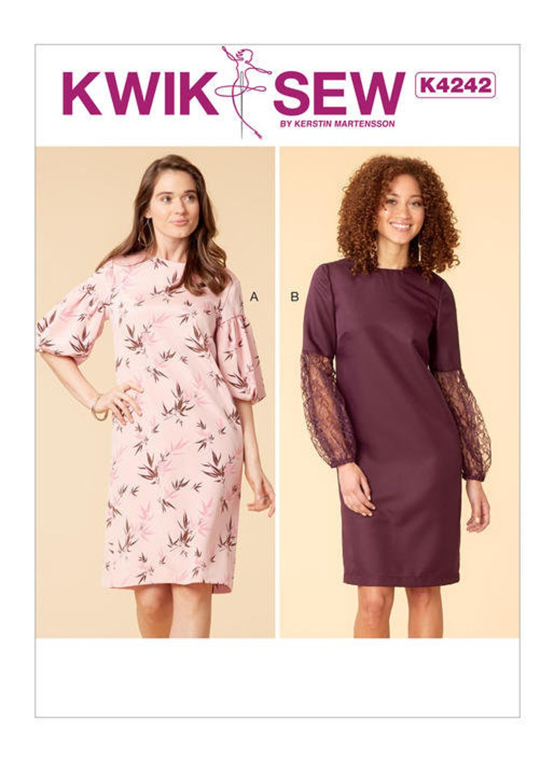 34ea867e90b Sewing Pattern for Misses  Dresses Kwik Sew 4242