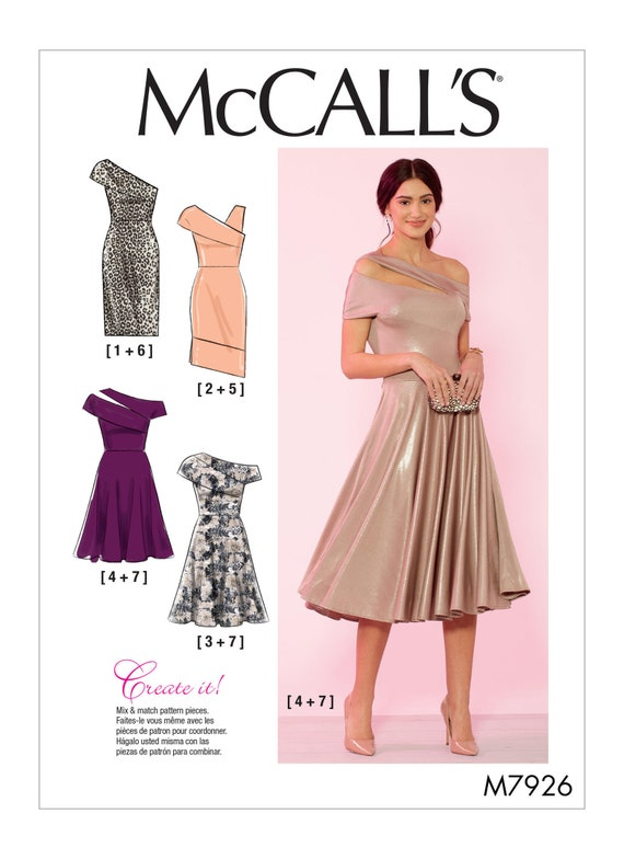 Sewing Pattern for Womens Event Dress in Misses Sizes & Plus Sizes,  McCall\'s Pattern M7926, New Pattern, Create It Pattern, Special Occasion