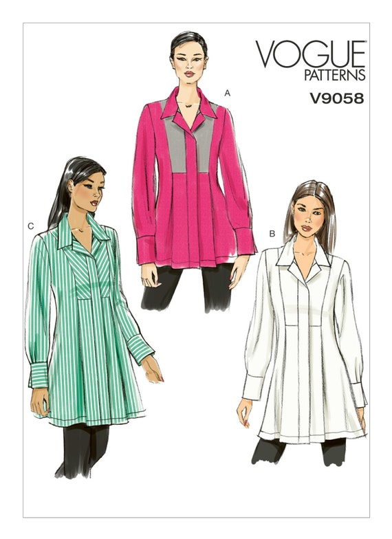 Sewing Pattern For Misses Snap Closure Tunics Vogue Etsy