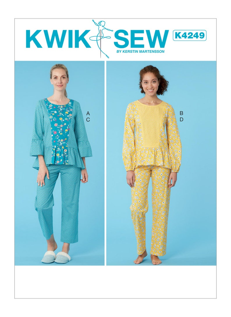 8fc6968b858 Sewing Pattern for Womens Pajamas in Misses Sizes Kwik Sew