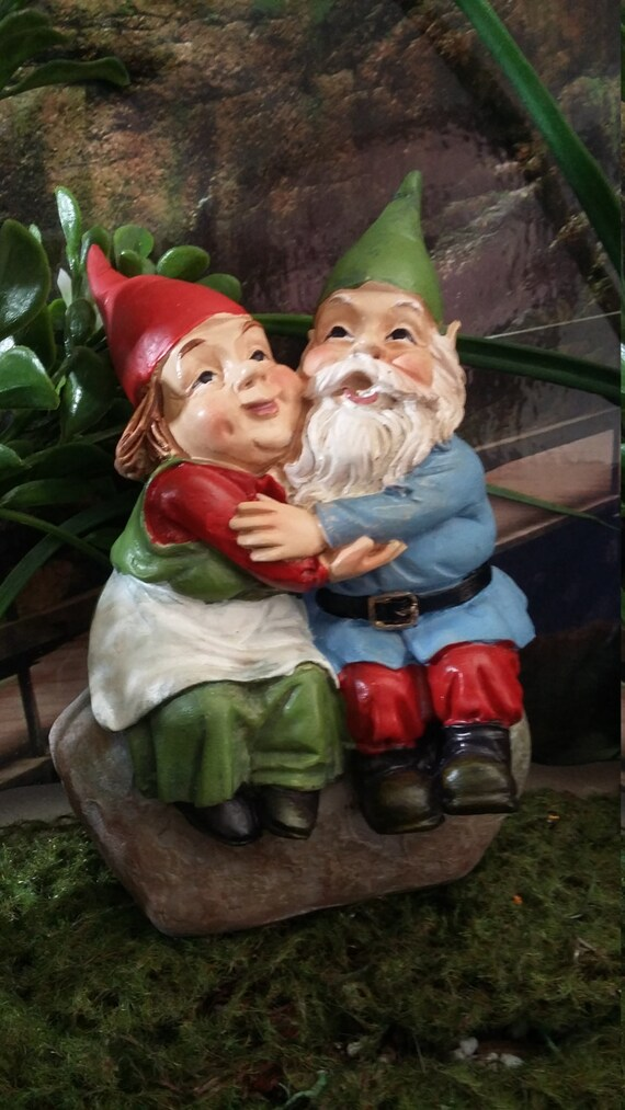 Exceptional Fairy Garden Miniature Garden Gnome Couple For Your Fairy | Etsy