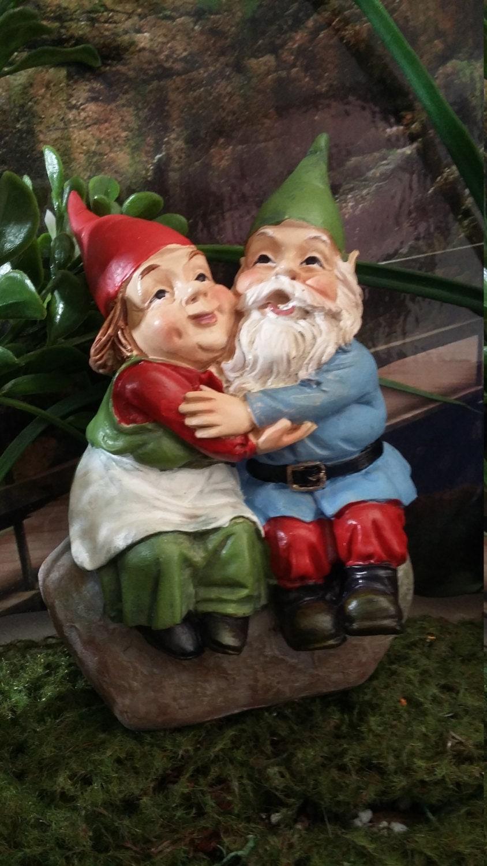 Gnome Garden: Fairy Garden Miniature Garden Gnome Couple For Your Fairy
