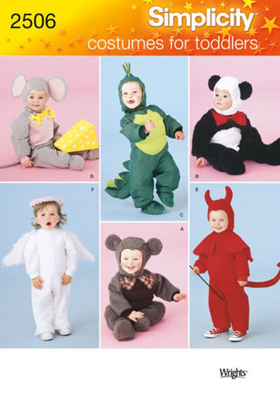 Sewing Pattern Toddler Costumes Simplicity 2506 Dragon