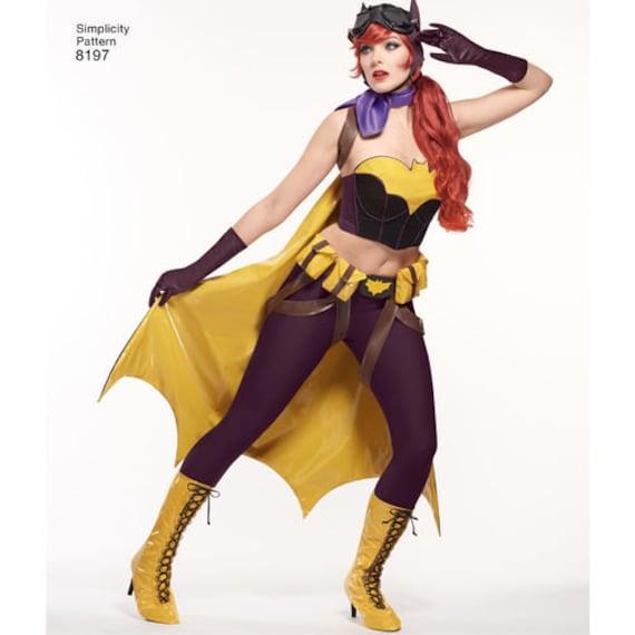 sewing pattern for dc comics bombshells bat girl costume simplicity pattern 8197 womens halloween costume dc comicscosplay costume