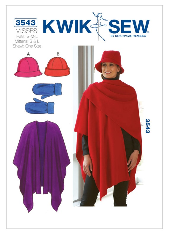 Kwik Sew SEWING PATTERN K4203 To Make Four Misses Hats