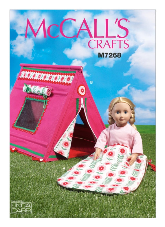 Sewing Pattern for 18 Inch Doll Tent & Sleeping Bag for | Etsy