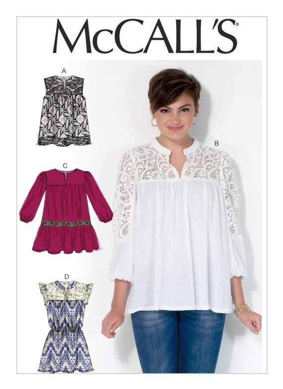 Sewing Pattern For Misses Notch Front Tops And Tunics Etsy