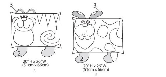 Sewing Pattern For Cat And Dog Pillows Kwik Sew K171