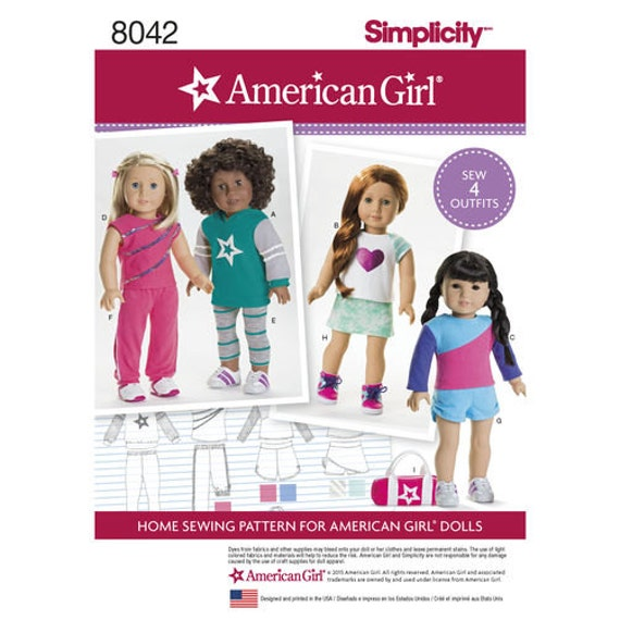 """fits 18/"""" American Girl Ivy League Classic Sew Adorable Doll Clothes Pattern"""