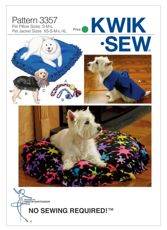 Sewing Pattern for Pet Dog Fringe Pillows Dog Jackets and