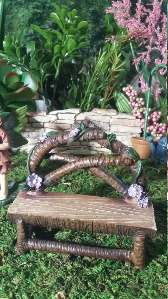 Pleasant Fairy Garden Miniature Flower Garden Bench Resin For Your Fairy Garden Fairy Garden Accessories Fairy Furniture Log Wood Look Bench Ibusinesslaw Wood Chair Design Ideas Ibusinesslaworg