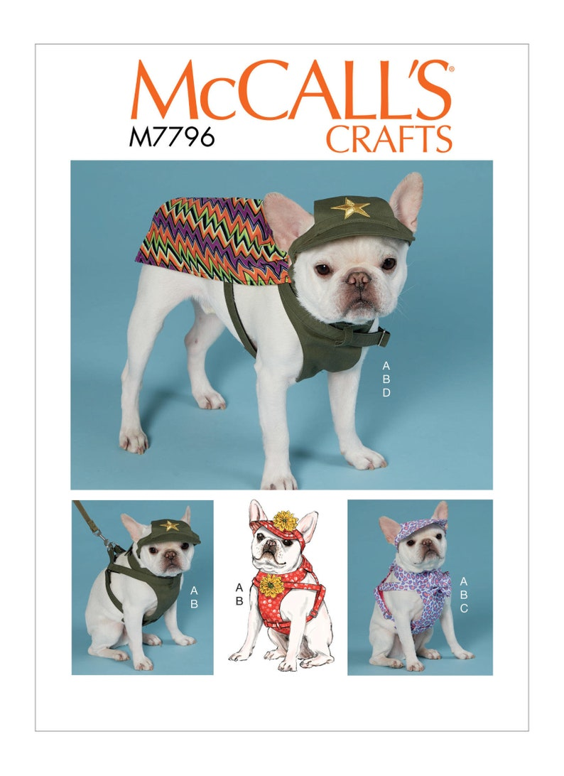 ed50da24308 Sewing Pattern for Pet Dog Clothes McCall s Pattern 7796