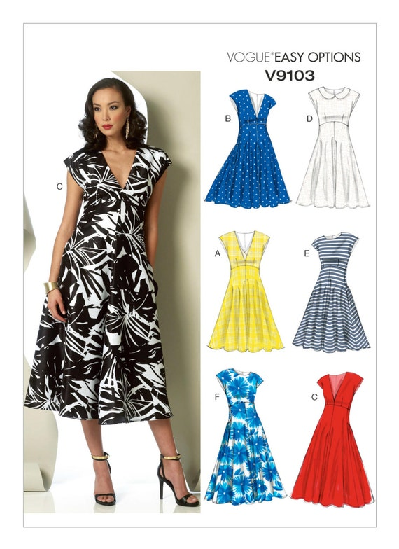 Sewing Pattern for Misses\' RAISED-WAISTLINE DRESSES, Vogue Pattern ...