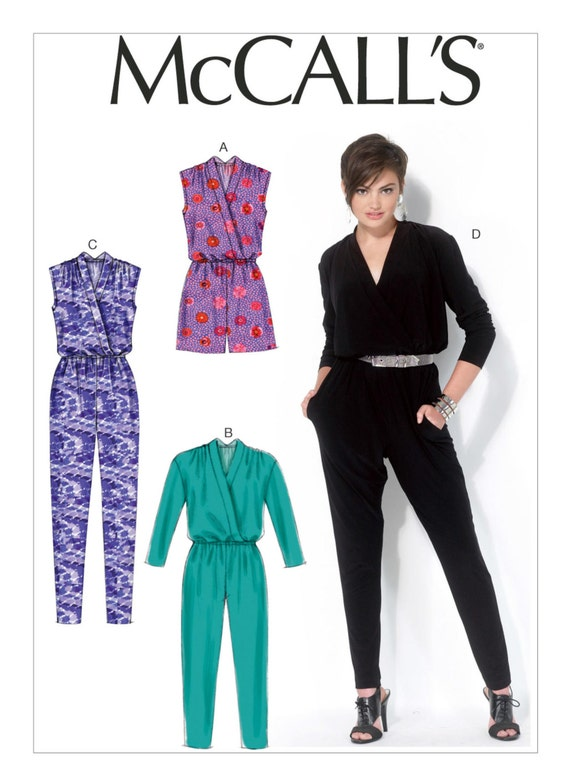 Sewing Pattern for Misses\' Blouson-Bodice Romper and   Etsy
