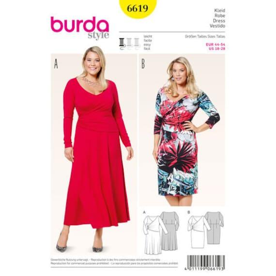 138bdcbf36f Sewing Pattern Women s Plus Size Dress Burda Style