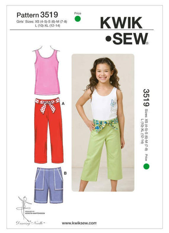 Sewing Pattern for Girls\' Pants Shorts and Tank Tops   Etsy