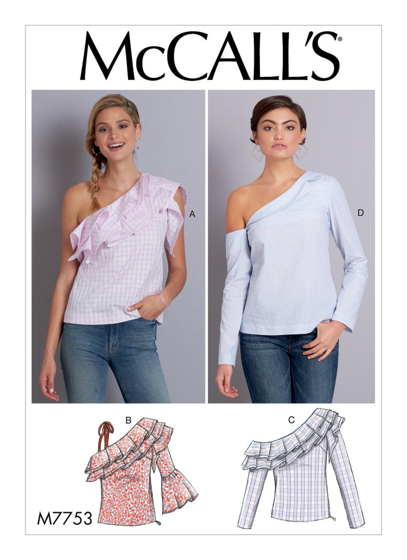 M7691 McCall/'s Sewing Pattern Misses/' Very Easy Yoke Tops Close-Fitting Pants