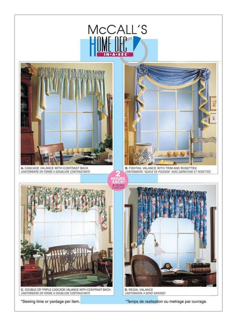 Sewing Pattern For Valance