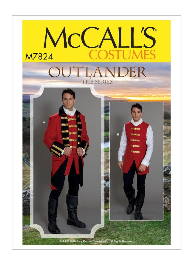 Sewing Pattern for Mens Historical Coat - Jacket & Vest Costume, McCalls  Pattern M7824, Outlander Costume, British Military Uniform