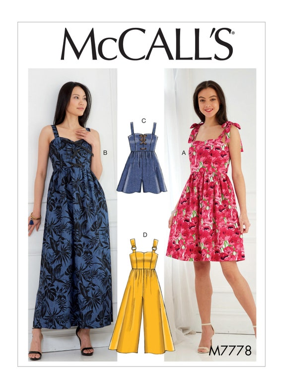 Sewing Pattern for Misses\' Dresses Romper and Jumpsuit   Etsy
